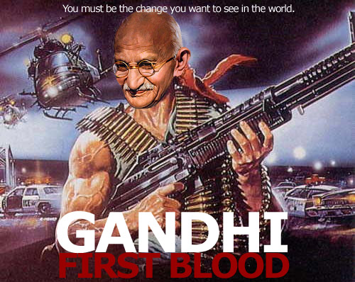 Ghandi-First-Blood-Rambo