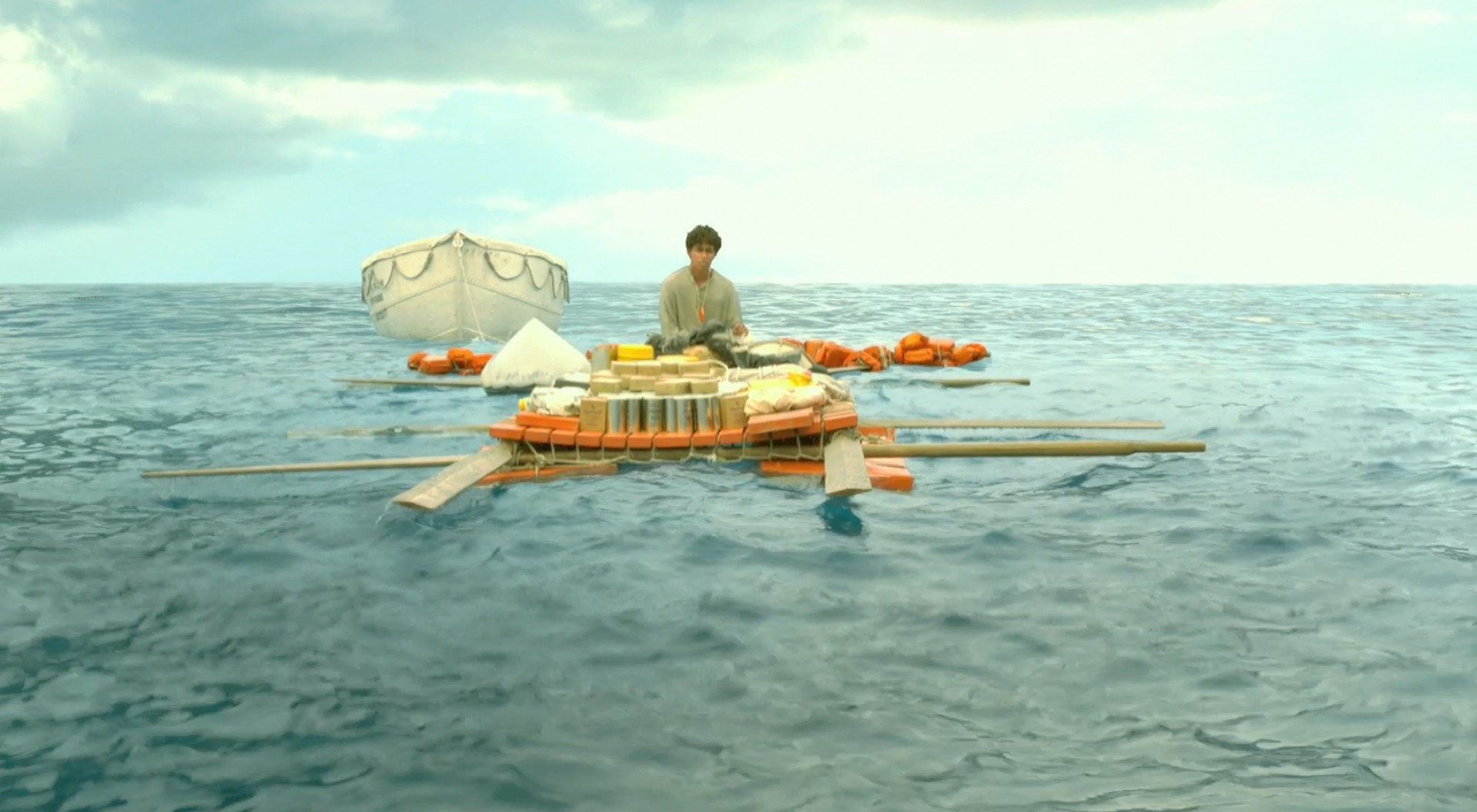 Life Of Pi Boat Drawing