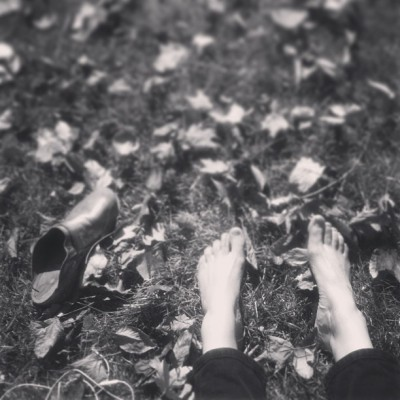 OCTOBER 25th: All that's left when you are gone are your shoes, your electronics, and your footprint.  -Eliza Starbuck #callthemortician #cheerup #bnwphotochallenge