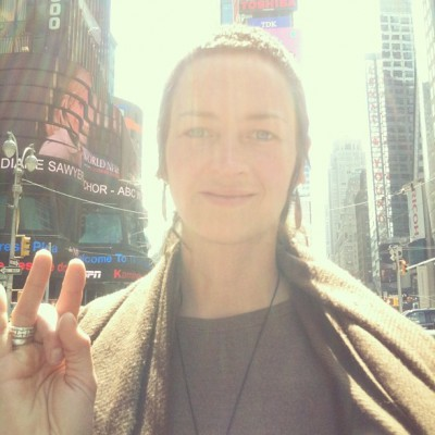 MAY 1st: Things are feeling very sunny today! Eeeeeeeee!  -Eliza Starbuck #loveblaster #timessquare