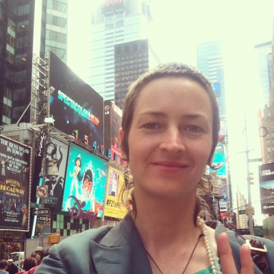 MAY 13th: Love blasting Times Square -Eliza Starbuck  #loveblaster