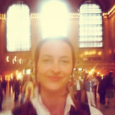 MAY 20th: Networking in Grand Central. -Eliza Starbuck #loveblaster #grandcentralshaman #gridhookup
