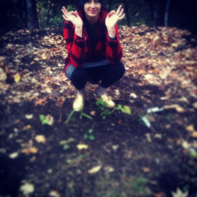 OCTOBER 21st: She trotted into the woods, pretending, playfully that she didn't know a thing about wolves or demons.  -Eliza Starbuck #foxinlittleredshoodsclothing #mylifeisafairytale #myrainbowreality #rainbowphotochallenge